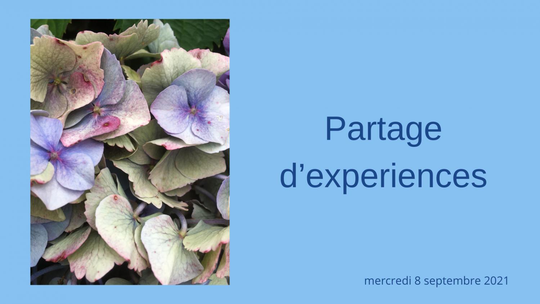 PARTAGE D'EXPERIENCES